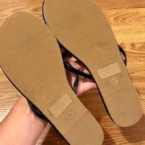 Mossimo Supply Co. Shoes - Gold Circle Skinny Strap Flip Flops